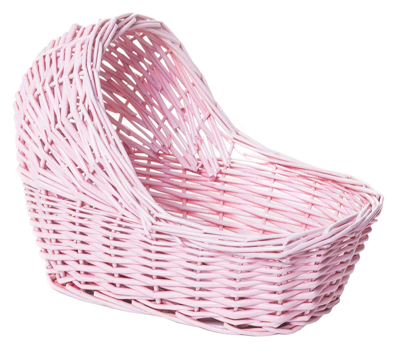 Willow Cradle Baby Shower Girl Basket In Pink