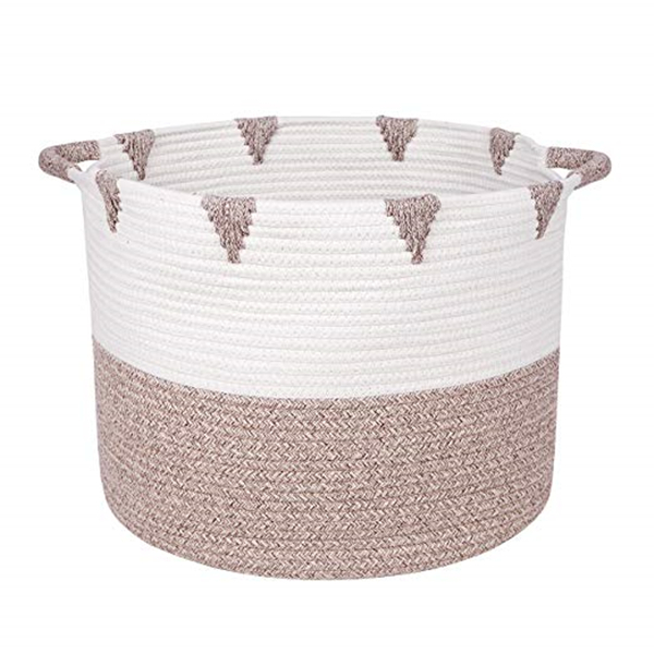 Cotton Rope Baskets with Handles