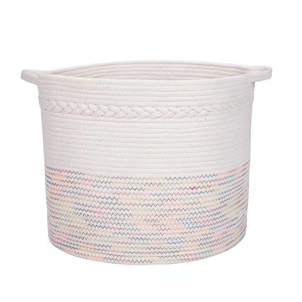 Collapsible Cotton Rope Storage Baskets