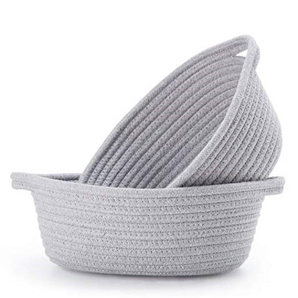 Small Storage Basket - Cute Cotton Rope Basket