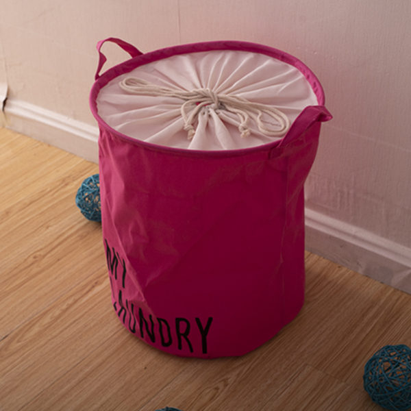 Laundry Basket Round Collapsible Storage Basket